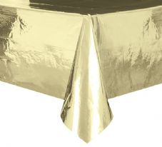 "Gold Foil Rectangular Tablecover 54"" x 108""/ 137cm x 274cm"